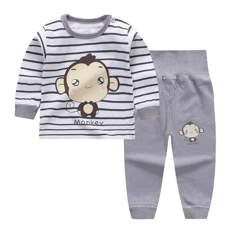 婴儿秋衣服0-1内衣2岁4男宝56女宝宝7高腰裤8八9九10十12个月贴身