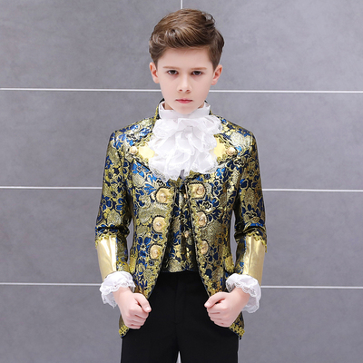 Boys Jazz Dance Costumes Boy's Retro-European Children's Court Dresses Performance Dresses Prince Charming's European Drama Stage Performance Dresses