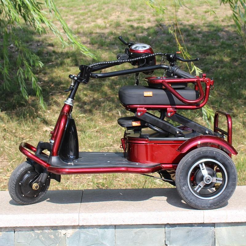 电动三轮车老人残疾人轻便折叠电瓶车迷你锂电车便携助力家用小型