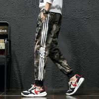 Вентилятор цвет брюки мужской корейская версия модные Студенческие обрезанные брюки осень новая коллекция Свободные дикие виды спорта для отдыха мужской брюки