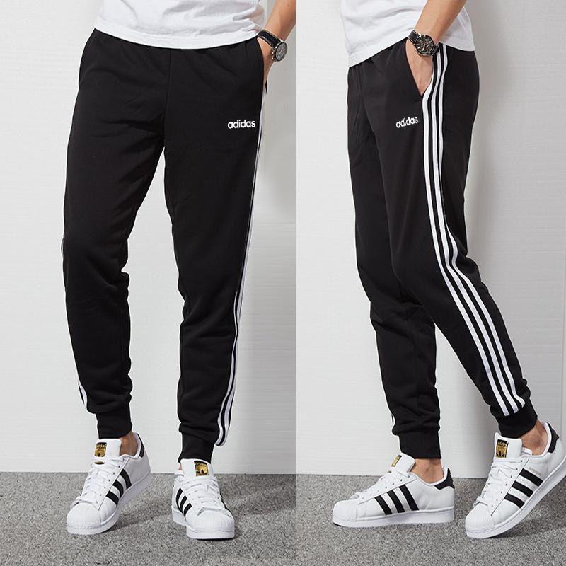 Adidas阿迪达斯裤子男秋冬季正品休闲长裤小脚男裤束脚收口运动裤
