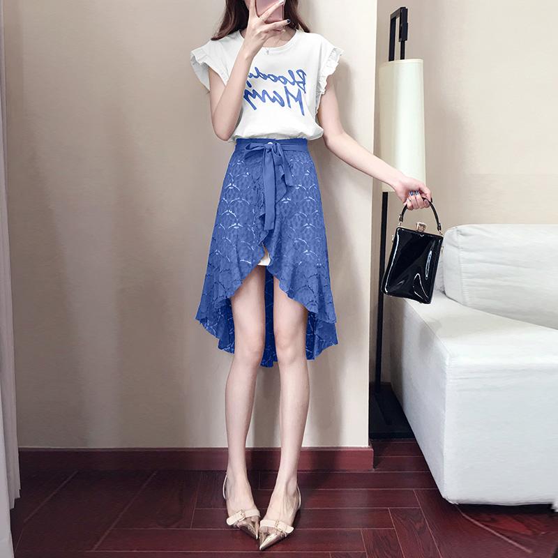 套装女夏2018新款时尚两件套港味原宿风网红女神心机小清新套裙潮