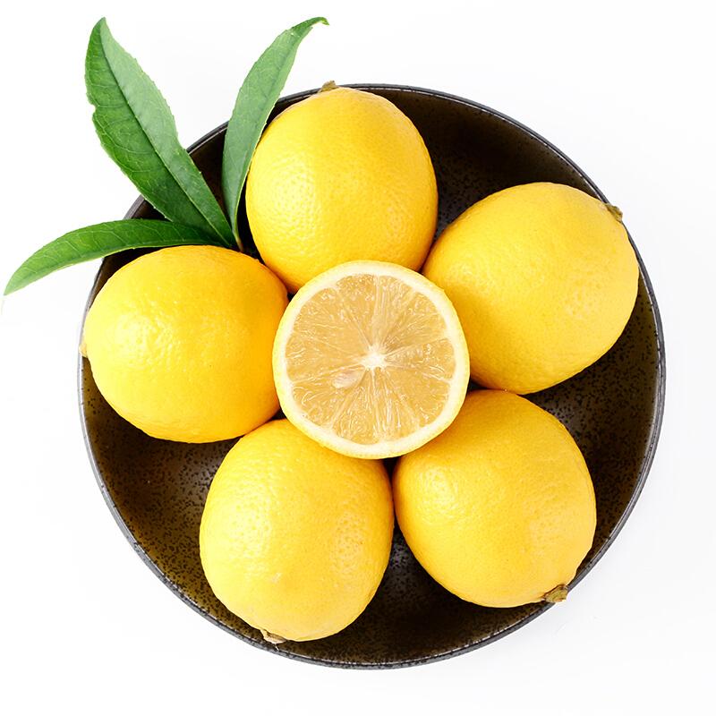荷尔檬6斤四川安岳一级黄柠檬大果当季新鲜水果皮薄批发整箱包邮