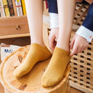 【5双】女韩版纯棉船袜日韩风低帮袜