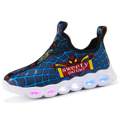 男童发光鞋儿童运动鞋秋季新款中小童春秋款带灯亮灯夜光闪灯童鞋