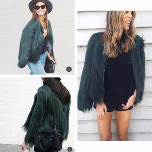 Шуба измех пальто искусственная кожа трава пальто fur coat woman