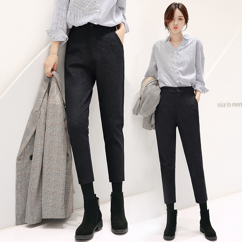 Woolen harem pants - gray - (upgrade version of the same level)