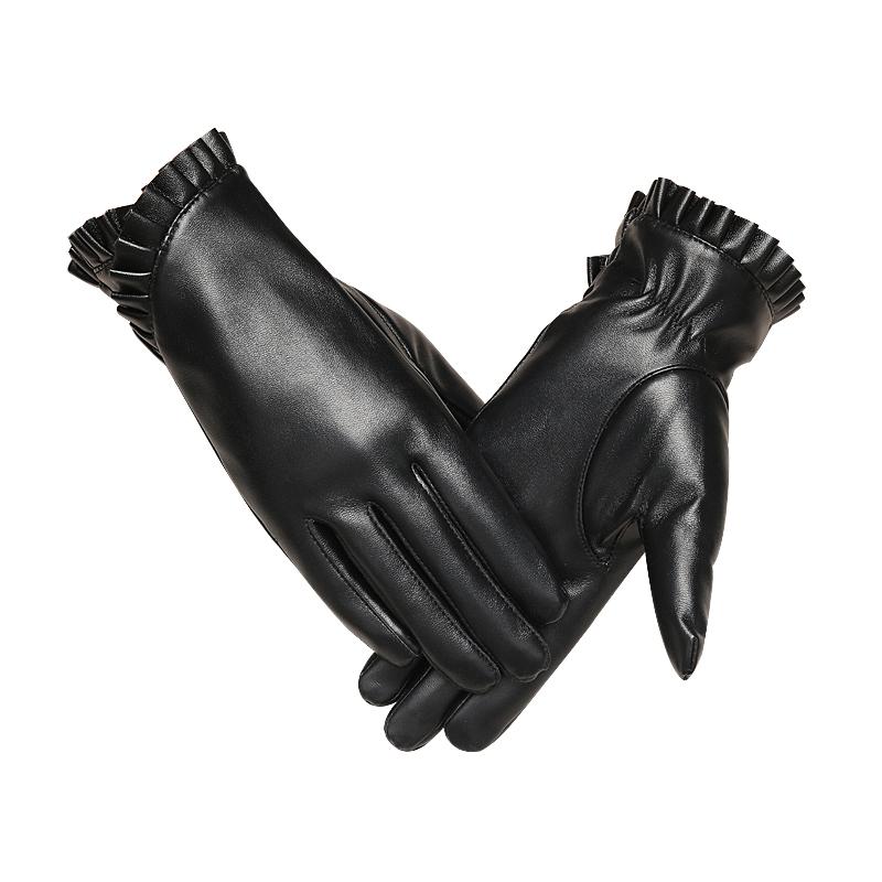 皮手套女冬季加绒保暖加厚防水防风触摸屏男士骑车摩托车开车手套