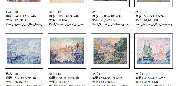 西涅克 高清油画图片素材电子版教学临摹打印喷绘参考大图装饰画插图(29)