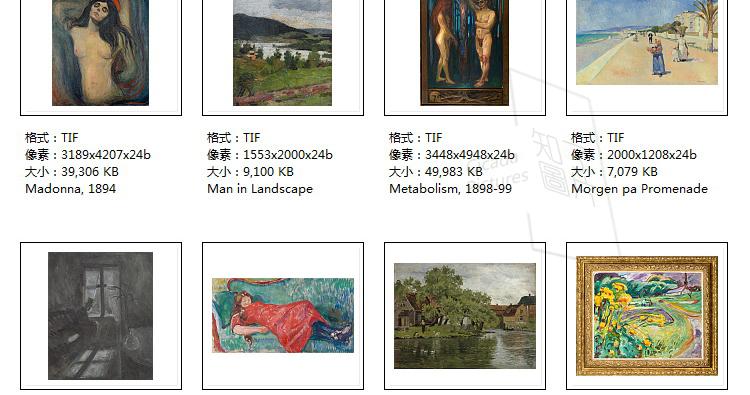 蒙克 高清油画图片电子版版画抽象教学临摹喷绘装饰画芯素材插图(27)