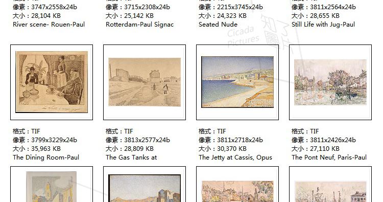 西涅克 高清油画图片素材电子版教学临摹打印喷绘参考大图装饰画插图(31)
