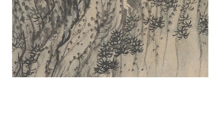 石涛国画高清图片电子版精册页小品教学临摹装饰画芯设计喷绘素材插图(11)