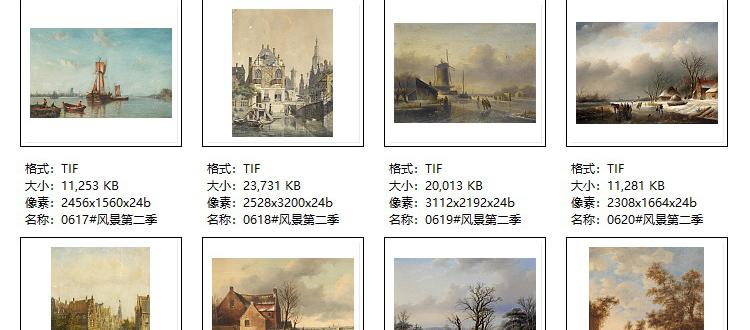 精选高清风景油画图片合集 装饰画画芯临摹喷绘打印素材作品集插图(50)