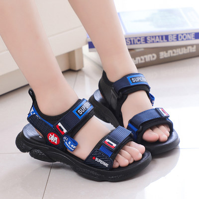 Boys sandals 2021 new summer child beach shoes big children's skin sandals children baby soft shoes