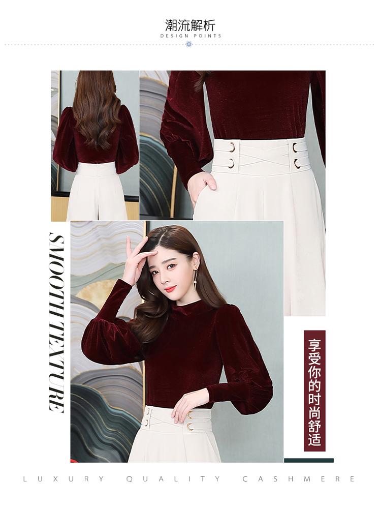 休闲时尚潮流蕾丝衫/雪纺衫长袖2020年春季纯色优雅