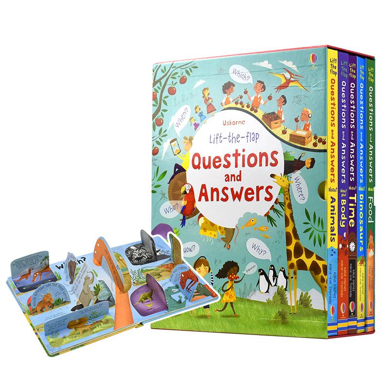 童书中的劳斯莱斯:Usborne 尤斯伯恩 Questions and Answers 你问我答百科翻翻书5册套装