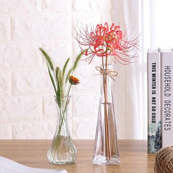 Small floor-to-ceiling home simple water bamboo small vase straight vertical vertical section rich bamboo garden water glass vase