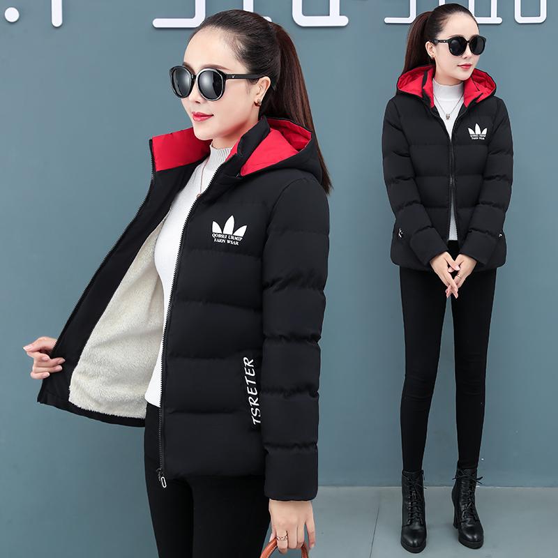 羽绒棉服女短款2020冬季新款棉衣韩版中年妈妈小棉袄加绒加厚外套