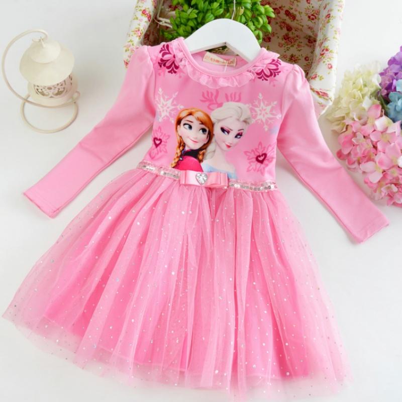 儿童春款冰雪奇缘公主裙女童连衣裙夏装短袖艾莎裙子宝宝爱莎裙