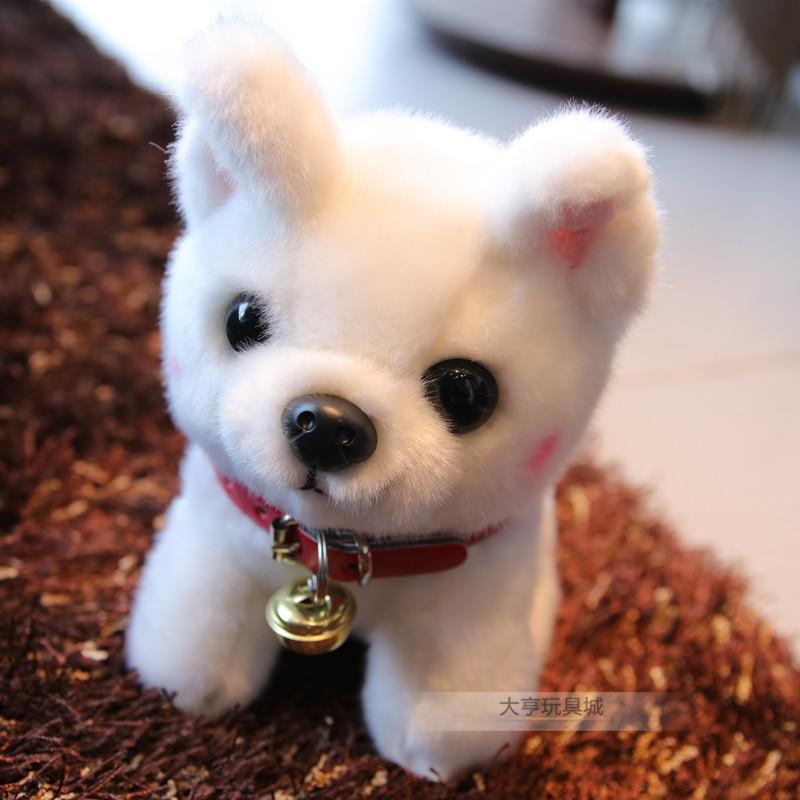 毛绒玩具狗狗小号公仔泰迪女生v小号狗博美玩偶可爱萌白色狗布娃娃