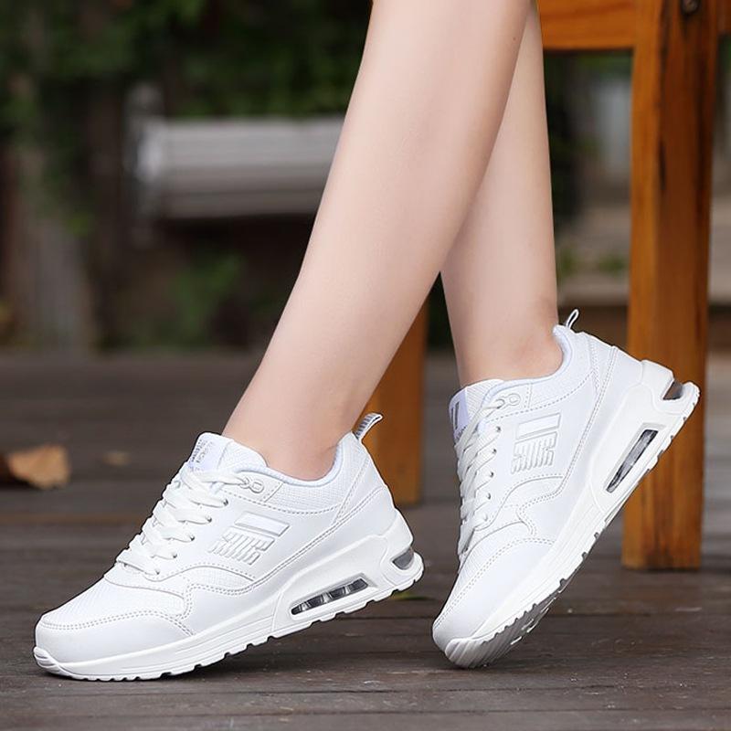 新款春季网面平底女鞋气垫韩版运动鞋休闲鞋透气平跟旅游板鞋单鞋