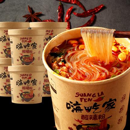 嗨吃家酸辣粉6桶装海吃螺蛳粉方便面忆之味重庆正宗速食粉丝米线