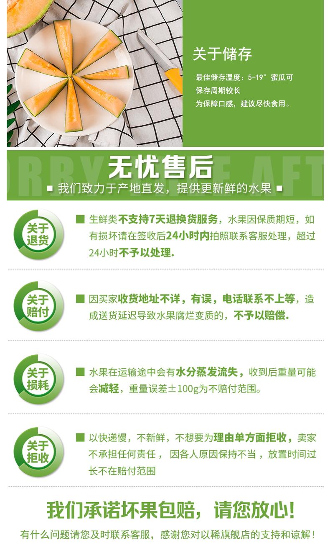 我们买过 全中国最好吃的哈密瓜 新疆火焰山西州蜜25号 2个共重7斤左右 图11