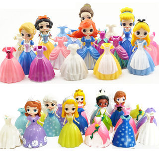 6 new products Alice Belle Sophia Princess Frozen can dress up dolls children play house toys