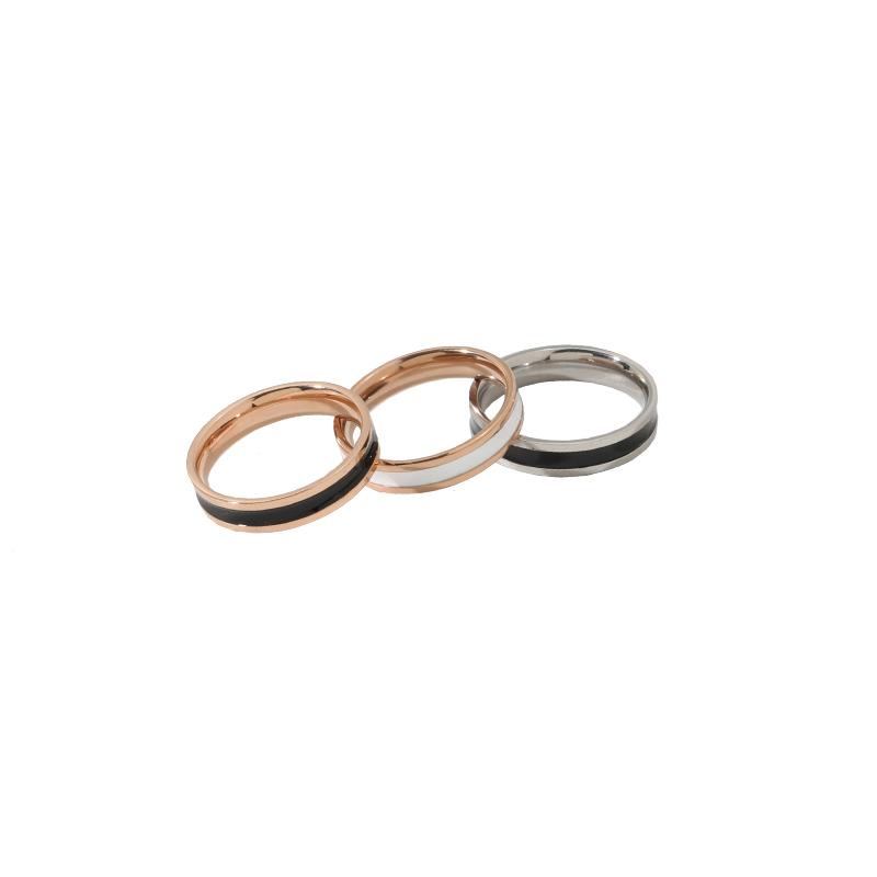 时尚个性陶瓷食指戒指女男女情侣对戒尾戒钛钢玫瑰金冷淡风ins潮