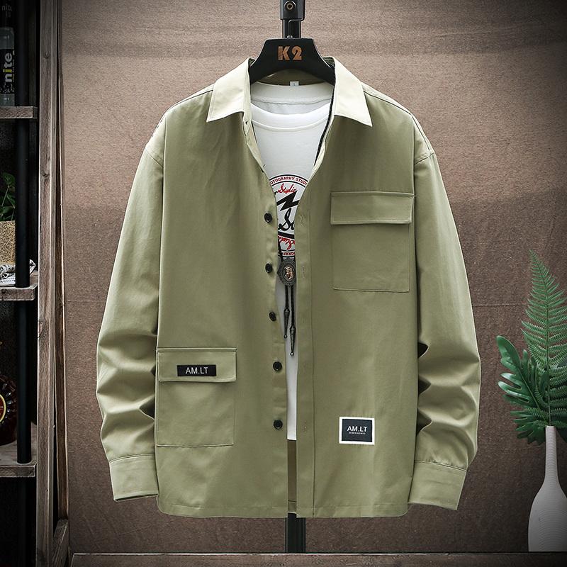 【人气爆款】男士长袖衬衫韩版潮流帅气衬衣