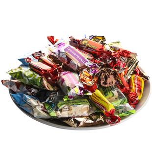 俄罗斯进口夹心巧克力糖500克