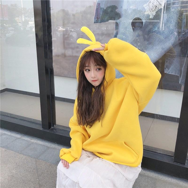 冬装潮流韩版宽松保暖卫衣女