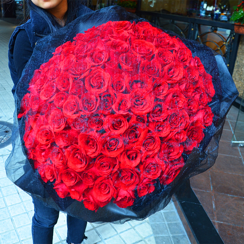 Usd 63 48 Guangzhou Flower Delivery With The City 99 Red Roses