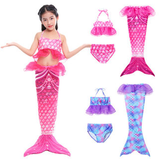 Mermaid fishtail skirt princess dress costume girls girls swimwear children swimsuit suit baby fish tail