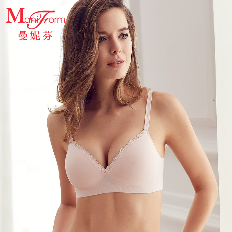 8b1a4755dd4 Mani Fen no steel bra cotton thin section breathable bra ladies underwear  soft and comfortable summer flat chest small chest