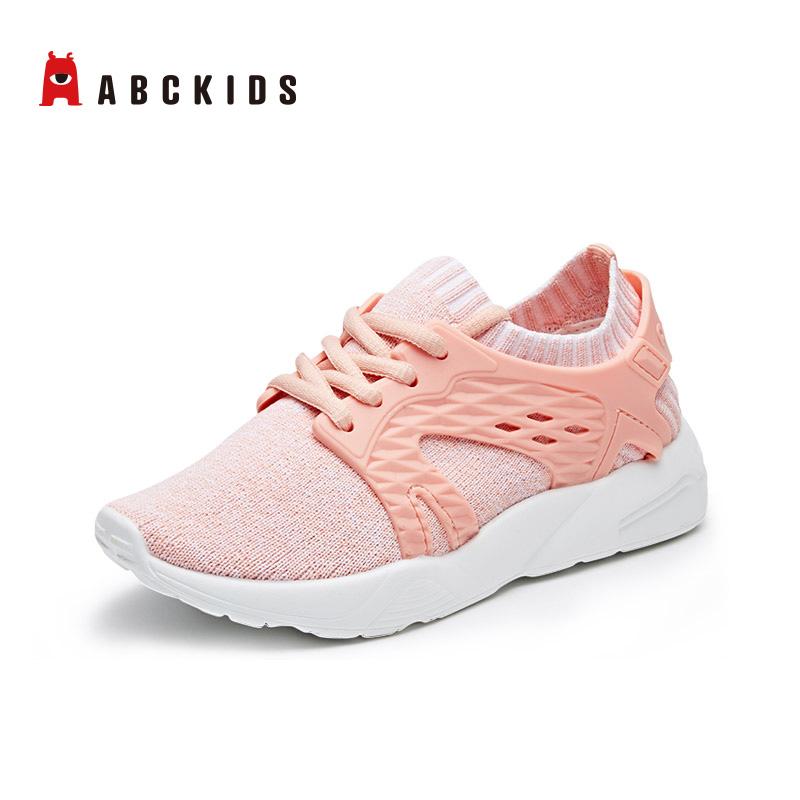 abckids童鞋 运动鞋女童2019春秋新款男童网鞋网面儿童跑步鞋透气