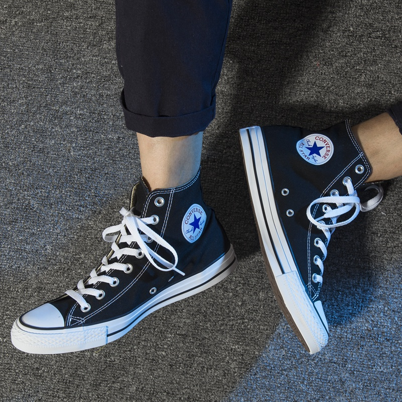 a85e65fdc199 Converse canvas shoes men s shoes low to help women s shoes Evergreen  genuine ALL STAR classic high