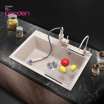 Italian quartz stone water tank single tank washpine kitchen sink pool dishwash pool basin waterbank
