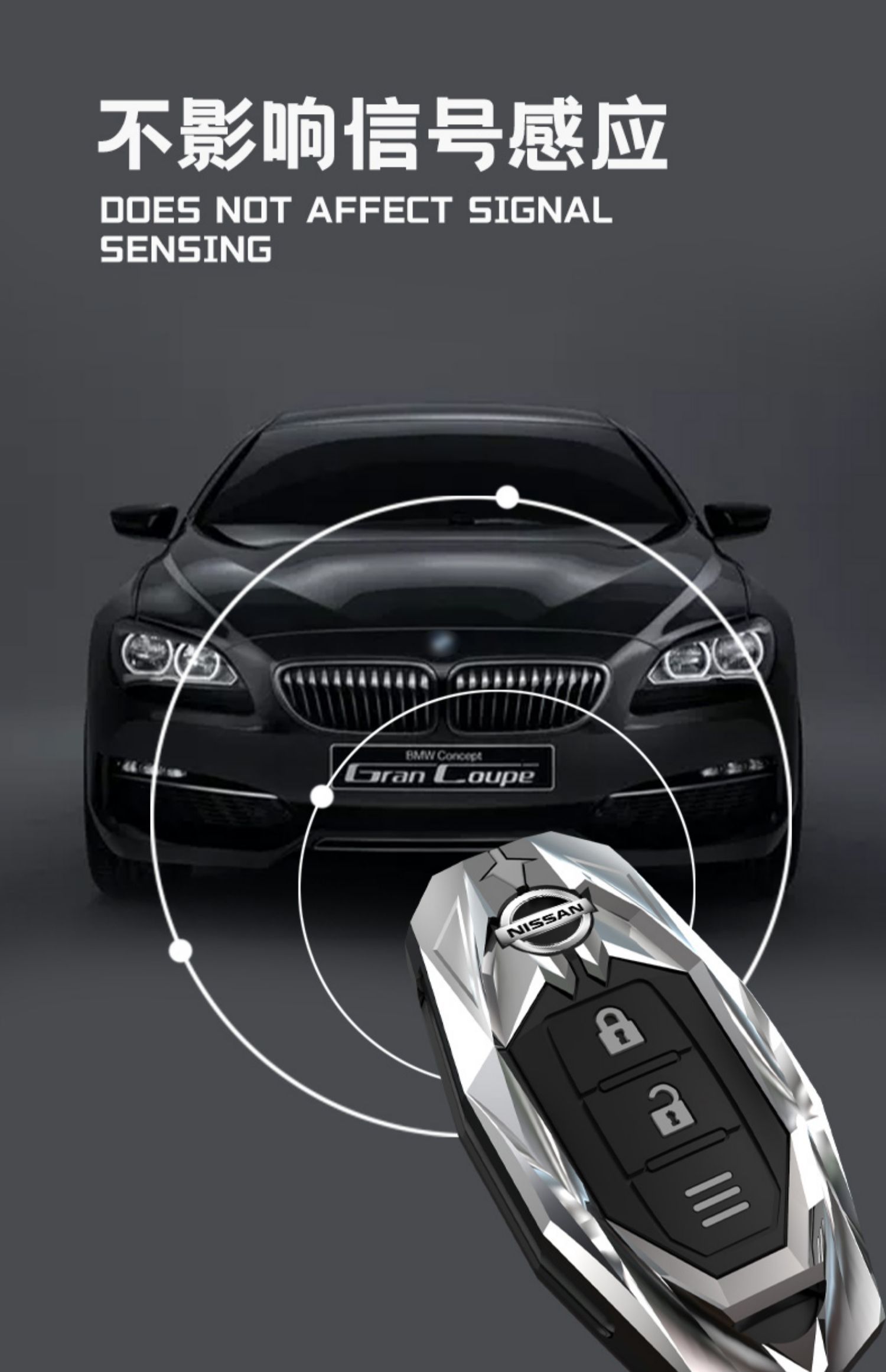Ốp chìa khóa kim loại Nissan Xtrail , Terra, Navara - ảnh 6