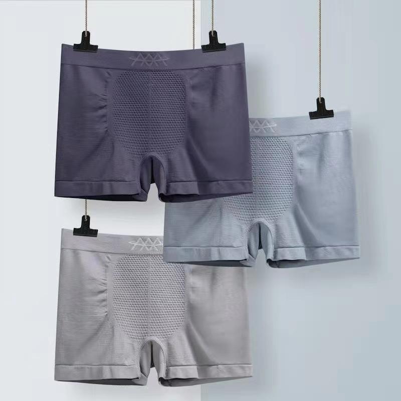 魔磁内裤男三条盒装5D立体健康透气吸湿无缝青年平角