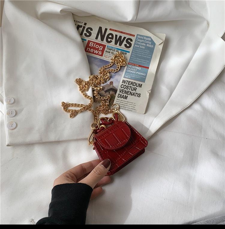 迷你包包新款潮网红洋派装饰小包零钱包百搭链条斜挎包女详细照片
