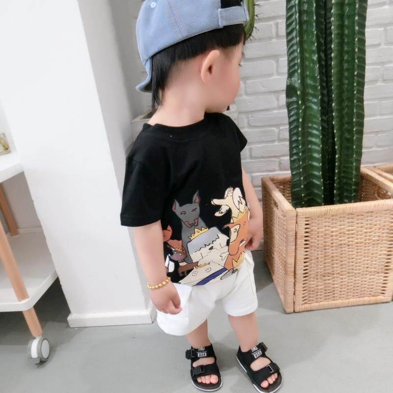 宝宝短袖t恤上衣新款男女童卡通v宝宝夏装体恤衫婴幼儿夏季儿童潮