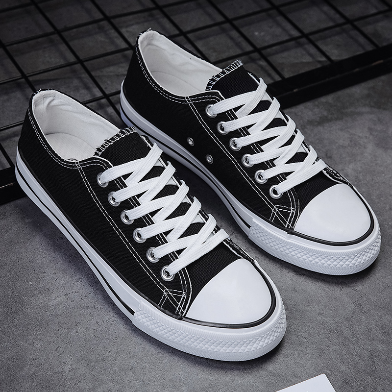 Autumn 2020 new men's canvas shoes men's shoes casual breathable Korean cloth shoes tidal board shoes low top small white shoes