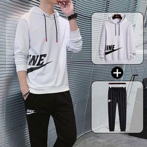 运动短袖套装两件套男裤青少年圆领卫衣