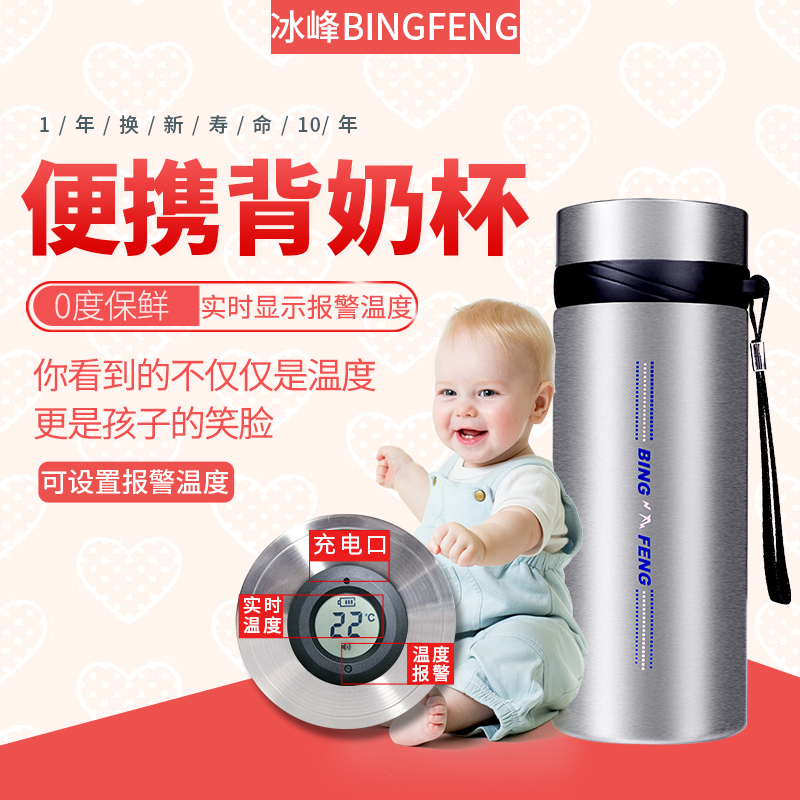 Ice peak back milk bag equipped with refrigerated portable work insulation blue ice storage milk ice pack breast milk preservation cup cold cup