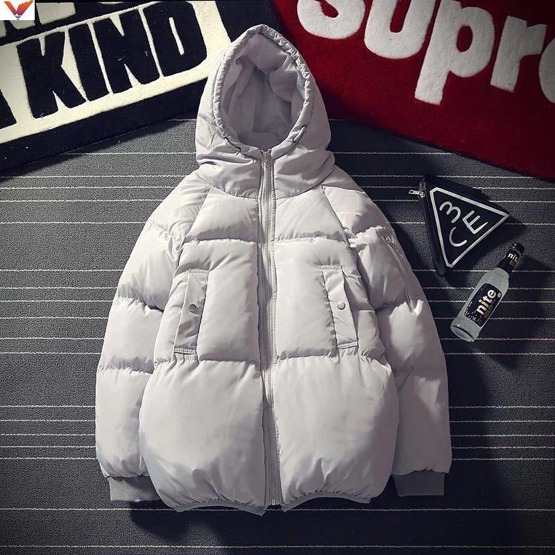 冬季新款男式棉服韩版青年工装男士连帽棉服棉袄棉衣帅气短款外套