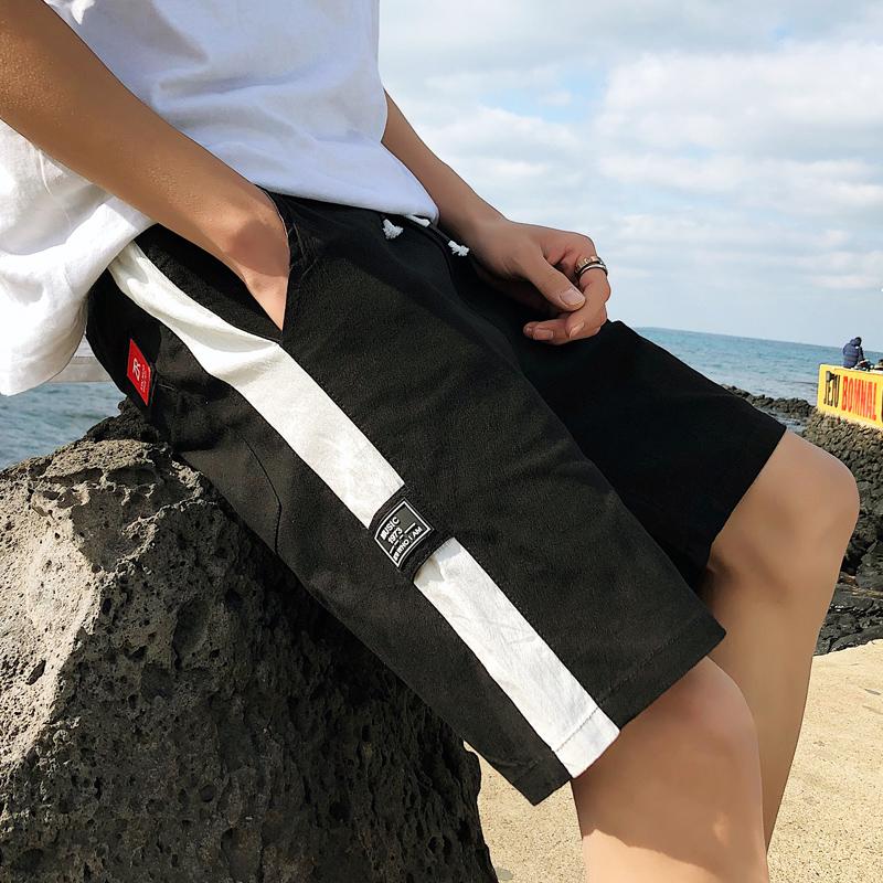 纯棉夏季薄款男士工装休闲运动裤