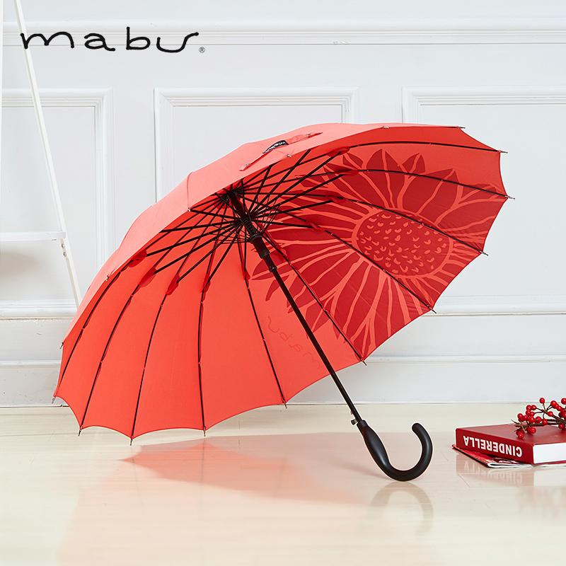 日本 Mabu 轻便半自动长柄晴雨伞 天猫优惠券折后¥68包邮包税(¥98-30)多色可选