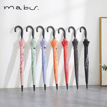 日本进口品牌Mabu长柄伞半自动雨伞晴雨伞遮阳伞太阳伞男女商务伞
