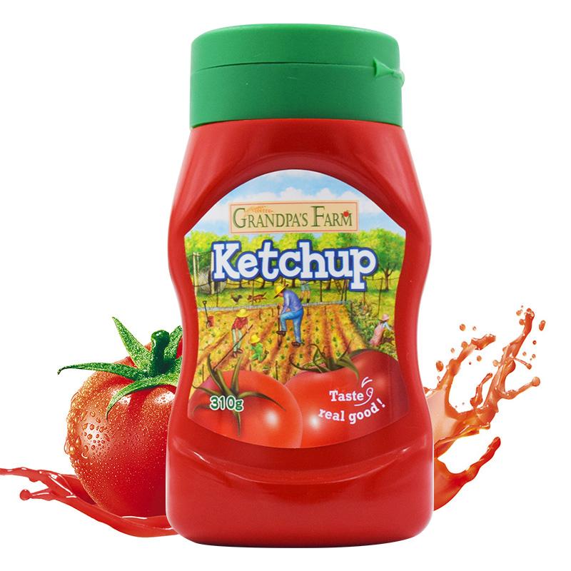 爷爷的农场进口低脂番茄酱沙司儿童宝宝辅食0脂肪汉堡意大利面酱